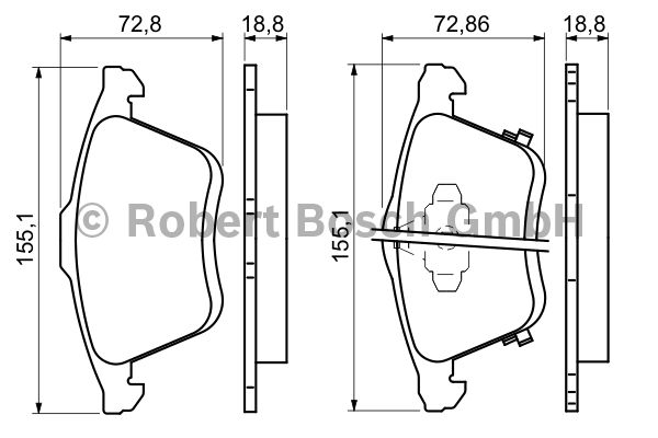 Kit de plaquettes de frein, frein à disque - BOSCH - 0 986 494 149