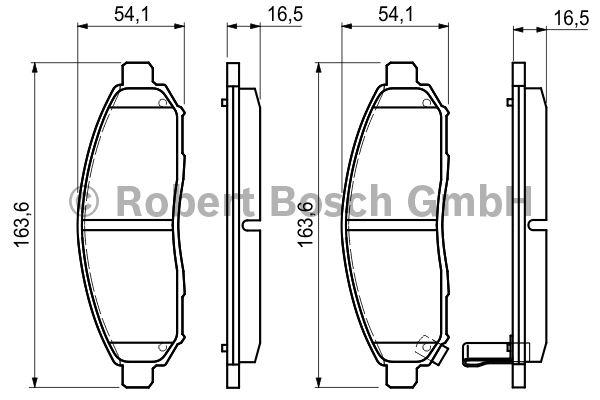 Kit de plaquettes de frein, frein à disque - BOSCH - 0 986 494 151