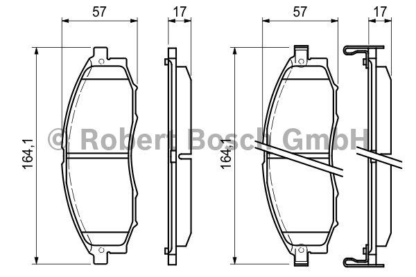 Kit de plaquettes de frein, frein à disque - BOSCH - 0 986 494 152