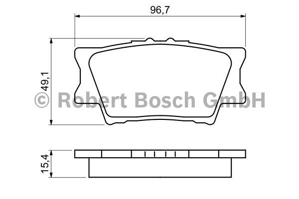 Kit de plaquettes de frein, frein à disque - BOSCH - 0 986 494 154