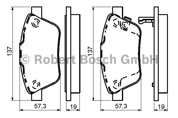 Kit de plaquettes de frein, frein à disque - BOSCH - 0 986 494 157