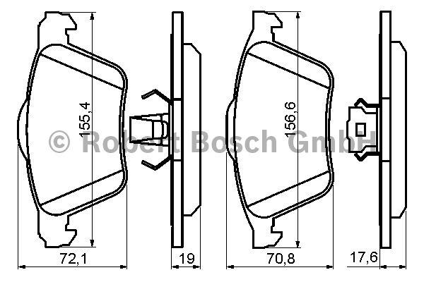 Kit de plaquettes de frein, frein à disque - BOSCH - 0 986 494 158