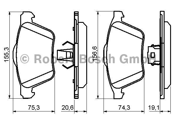 Kit de plaquettes de frein, frein à disque - BOSCH - 0 986 494 159