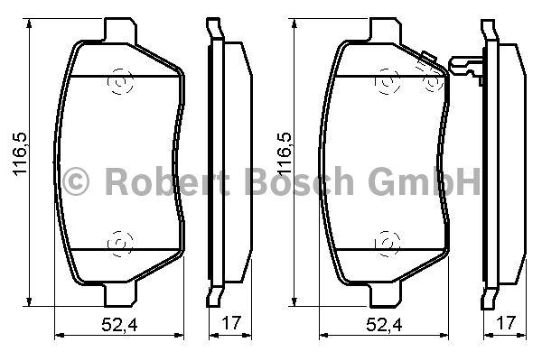 Kit de plaquettes de frein, frein à disque - BOSCH - 0 986 494 160