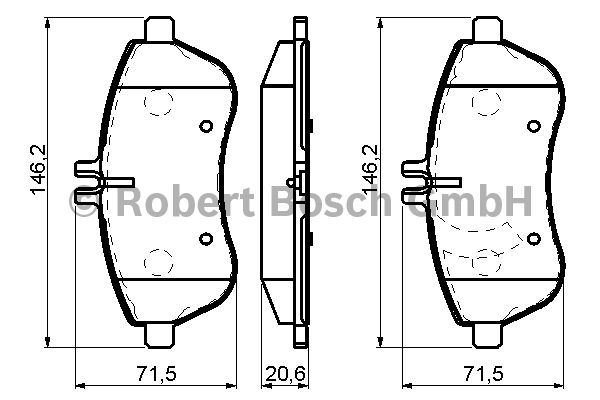 Kit de plaquettes de frein, frein à disque - BOSCH - 0 986 494 161