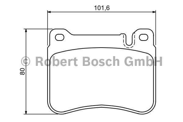 Kit de plaquettes de frein, frein à disque - BOSCH - 0 986 494 166