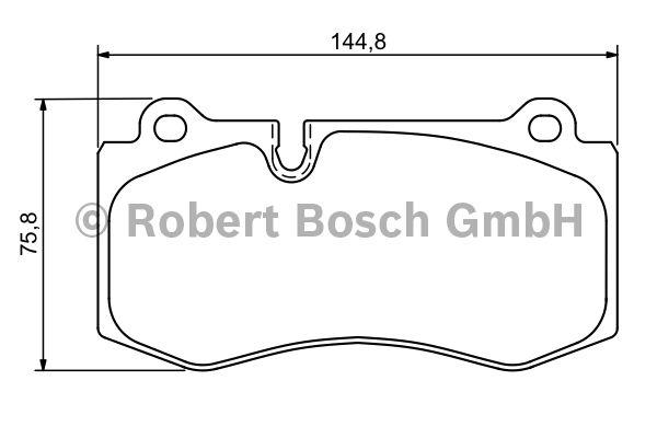Kit de plaquettes de frein, frein à disque - BOSCH - 0 986 494 167