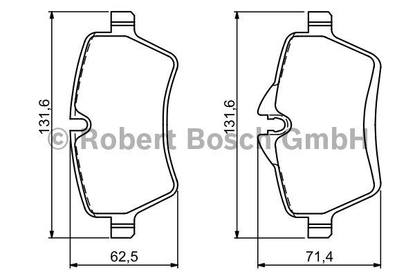 Kit de plaquettes de frein, frein à disque - BOSCH - 0 986 494 168