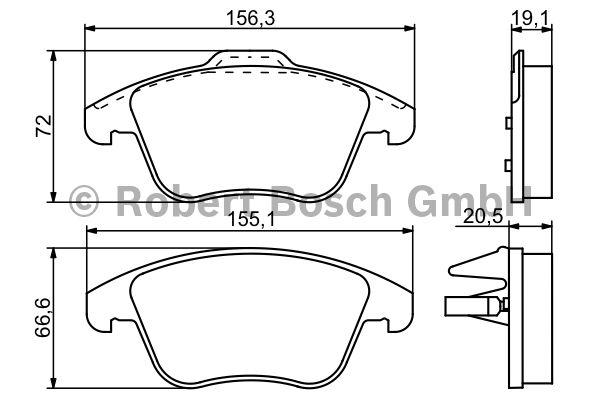 Kit de plaquettes de frein, frein à disque - BOSCH - 0 986 494 169