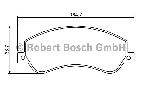 Kit de plaquettes de frein, frein à disque - BOSCH - 0 986 494 170