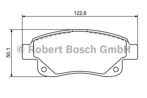 Kit de plaquettes de frein, frein à disque - BOSCH - 0 986 494 171
