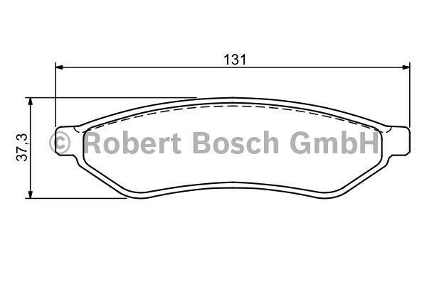 Kit de plaquettes de frein, frein à disque - BOSCH - 0 986 494 172