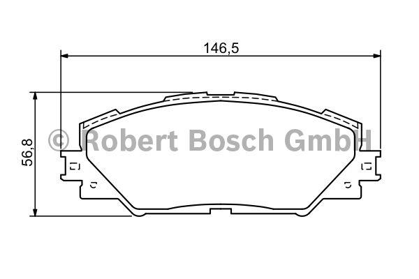 Kit de plaquettes de frein, frein à disque - BOSCH - 0 986 494 174
