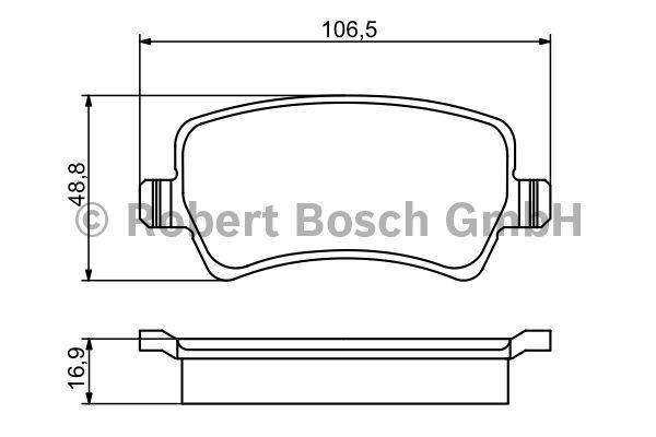 Kit de plaquettes de frein, frein à disque - BOSCH - 0 986 494 175