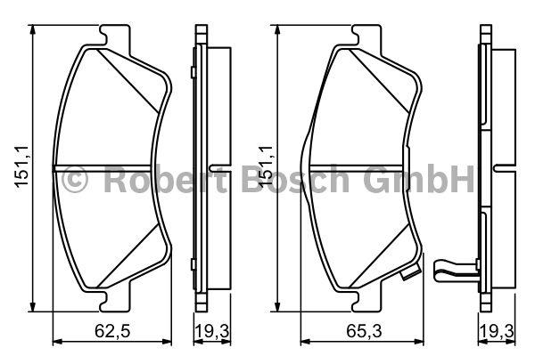 Kit de plaquettes de frein, frein à disque - BOSCH - 0 986 494 187