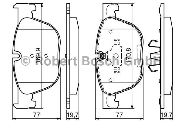 Kit de plaquettes de frein, frein à disque - BOSCH - 0 986 494 191