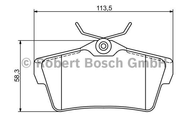 Kit de plaquettes de frein, frein à disque - BOSCH - 0 986 494 192