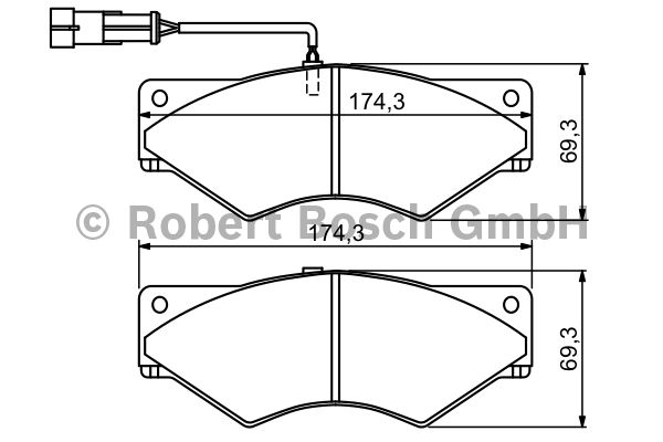 Kit de plaquettes de frein, frein à disque - BOSCH - 0 986 494 193