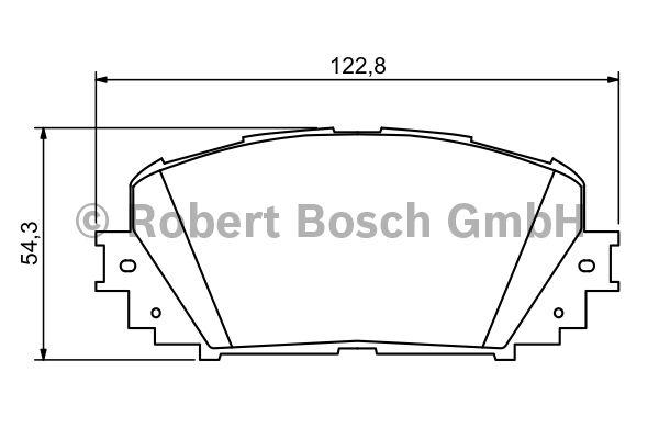 Kit de plaquettes de frein, frein à disque - BOSCH - 0 986 494 196