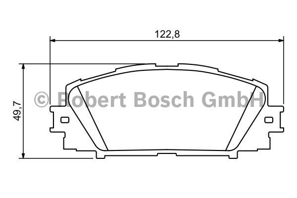 Kit de plaquettes de frein, frein à disque - BOSCH - 0 986 494 198
