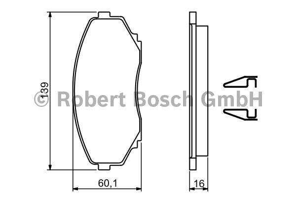 Kit de plaquettes de frein, frein à disque - BOSCH - 0 986 494 204