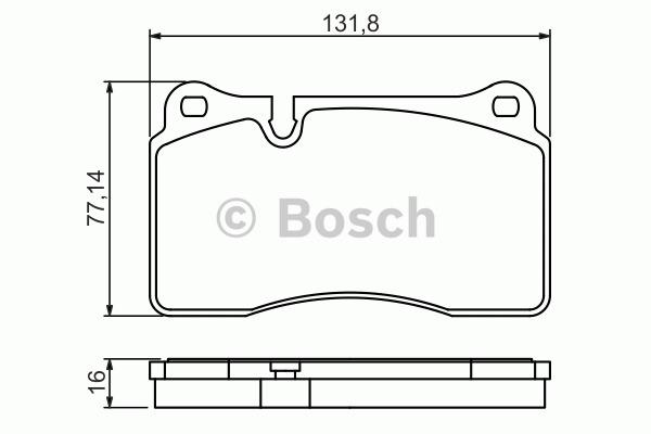 Kit de plaquettes de frein, frein à disque - BOSCH - 0 986 494 207
