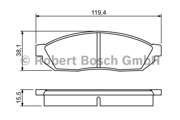 Kit de plaquettes de frein, frein à disque - BOSCH - 0 986 494 208