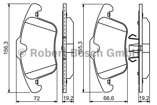 Kit de plaquettes de frein, frein à disque - BOSCH - 0 986 494 209