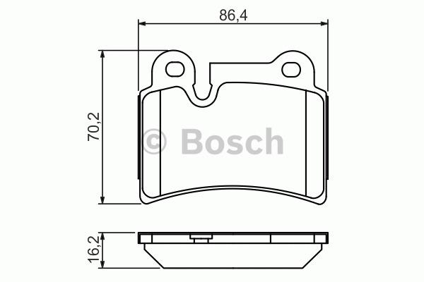 Kit de plaquettes de frein, frein à disque - BOSCH - 0 986 494 210
