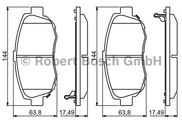 Kit de plaquettes de frein, frein à disque - BOSCH - 0 986 494 211
