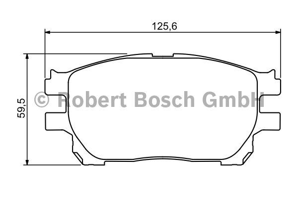 Kit de plaquettes de frein, frein à disque - BOSCH - 0 986 494 212