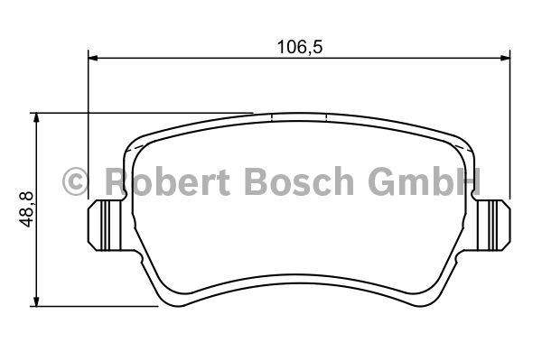 Kit de plaquettes de frein, frein à disque - BOSCH - 0 986 494 213