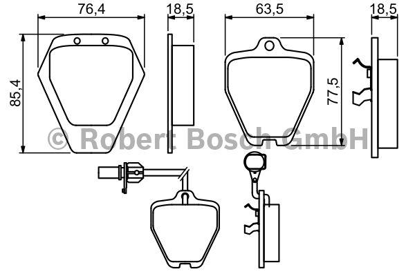 Kit de plaquettes de frein, frein à disque - BOSCH - 0 986 494 215