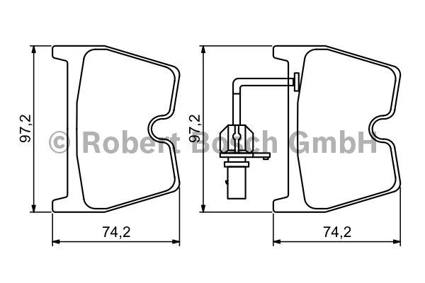 Kit de plaquettes de frein, frein à disque - BOSCH - 0 986 494 216