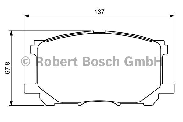 Kit de plaquettes de frein, frein à disque - BOSCH - 0 986 494 218