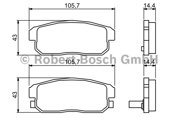 Kit de plaquettes de frein, frein à disque - BOSCH - 0 986 494 223