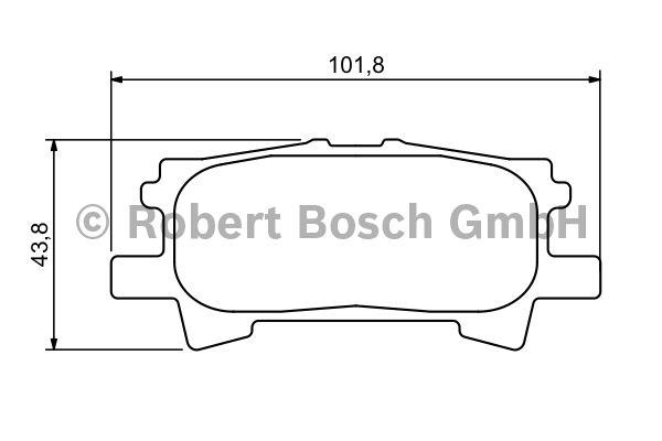 Kit de plaquettes de frein, frein à disque - BOSCH - 0 986 494 224
