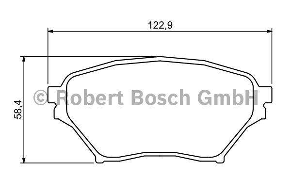 Kit de plaquettes de frein, frein à disque - BOSCH - 0 986 494 225