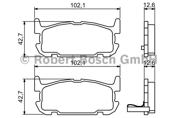 Kit de plaquettes de frein, frein à disque - BOSCH - 0 986 494 226