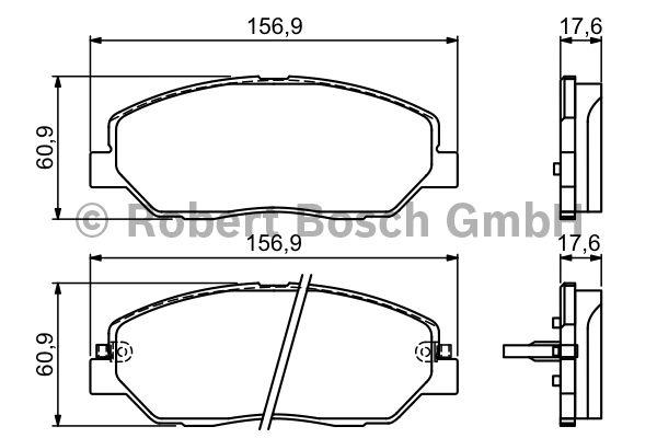 Kit de plaquettes de frein, frein à disque - BOSCH - 0 986 494 227