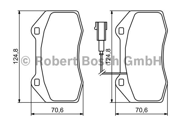 Kit de plaquettes de frein, frein à disque - BOSCH - 0 986 494 228