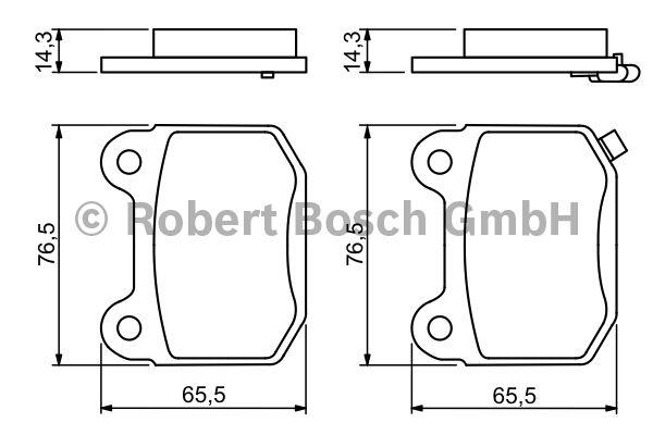 Kit de plaquettes de frein, frein à disque - BOSCH - 0 986 494 229