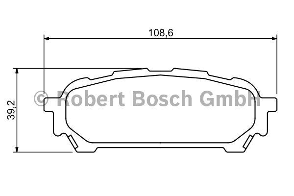 Kit de plaquettes de frein, frein à disque - BOSCH - 0 986 494 232