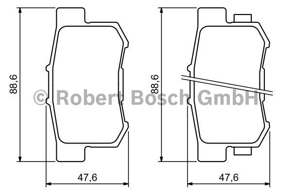 Kit de plaquettes de frein, frein à disque - BOSCH - 0 986 494 233