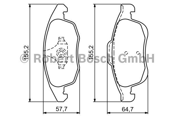 Kit de plaquettes de frein, frein à disque - BOSCH - 0 986 494 235