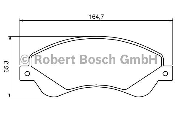 Kit de plaquettes de frein, frein à disque - BOSCH - 0 986 494 236