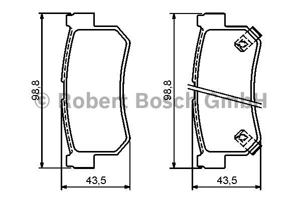 Kit de plaquettes de frein, frein à disque - BOSCH - 0 986 494 237