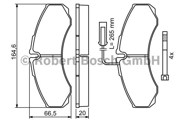 Kit de plaquettes de frein, frein à disque - BOSCH - 0 986 494 239