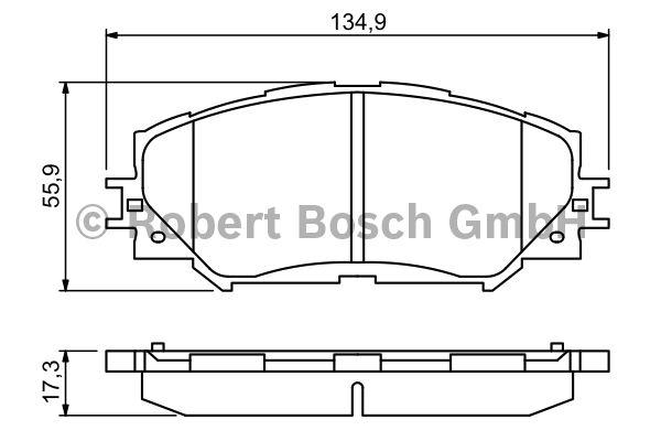 Kit de plaquettes de frein, frein à disque - BOSCH - 0 986 494 240