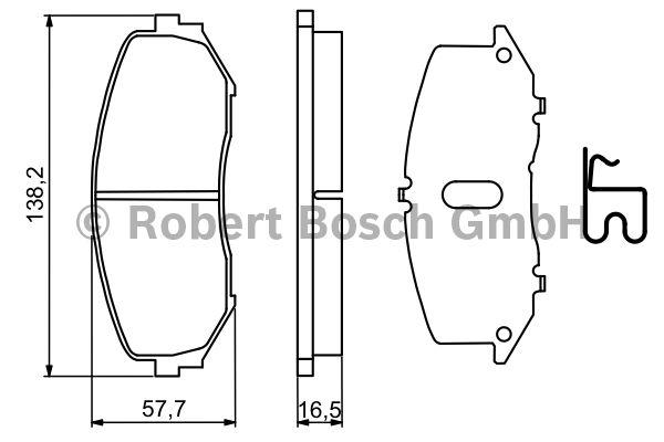 Kit de plaquettes de frein, frein à disque - BOSCH - 0 986 494 241